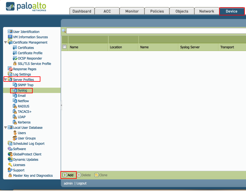 How to configure log forwarding in Palo Alto Networks
