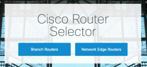 Figure 1.1 - Cisco Router Selector