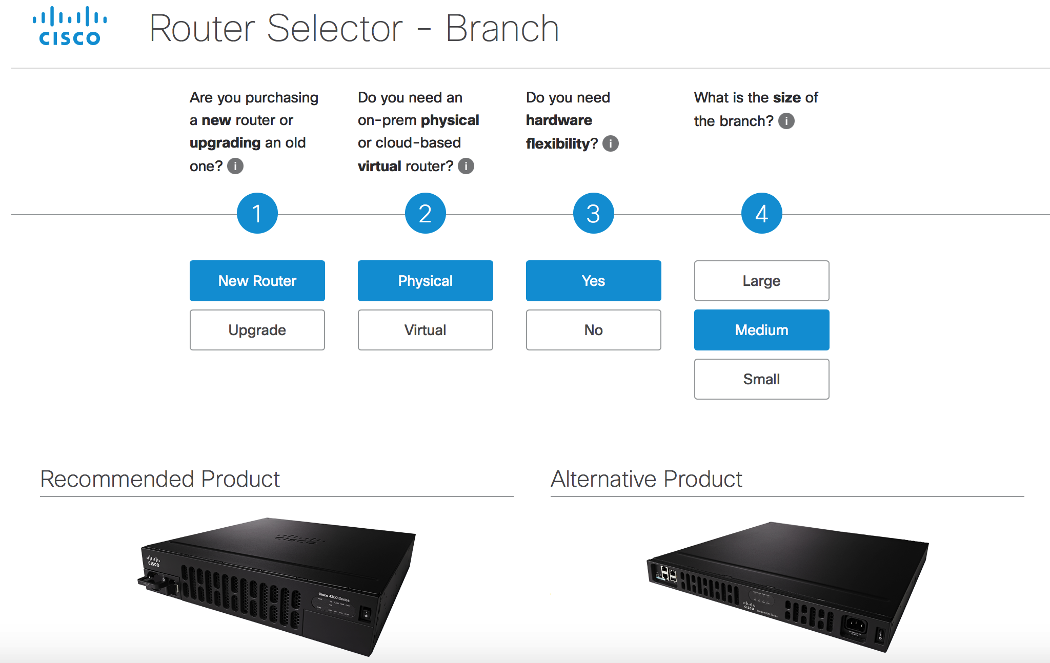 Cisco Router Selector may be your next tool to select the