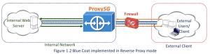 Figure 1.2 Blue Coat in Reverse Proxy Mode