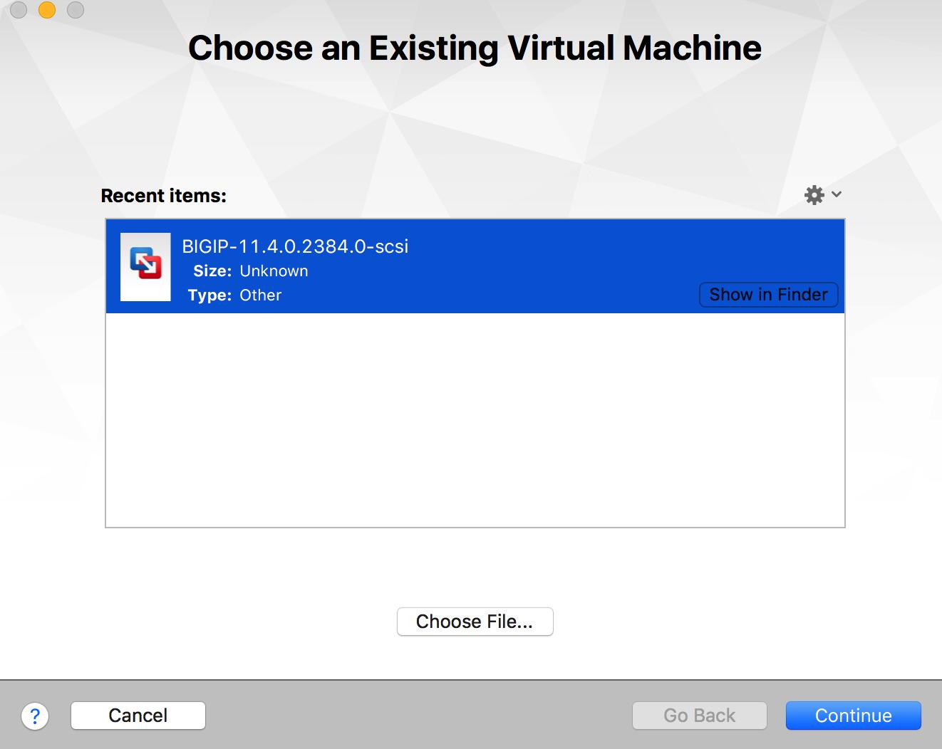 How to setup a F5 BIG-IP LTM Virtual lab on VMware Fusion? - Network