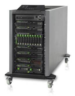 Fujitsu blade server on wheels