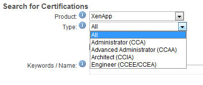 The Virtualization Certs Pertain to the XenApp product line