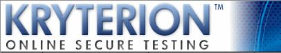 The Kryterion online testing  environment adapts cert testing entirely to secure Web-based development and delivery