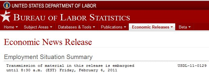 Header from latest US BLS Employment Situation Summary