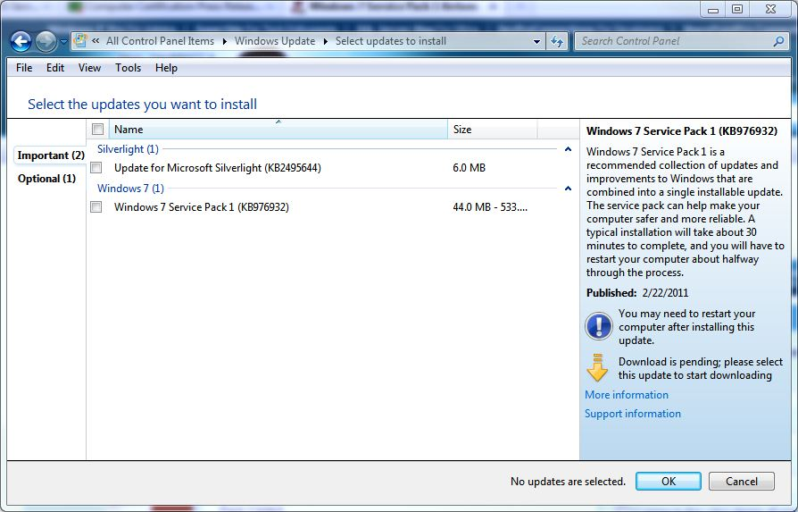 The inside scoop on Win7 SP1 straight from Windows Update