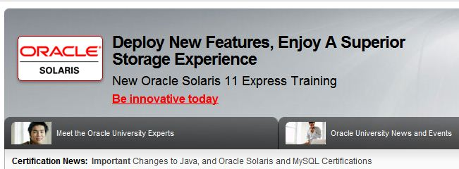 Sun Certifications Now Fall Under the Oracle Unversity Umbrella