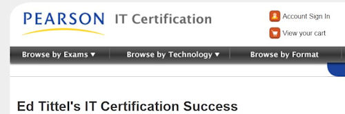 Header from my IT Cert Success article collection