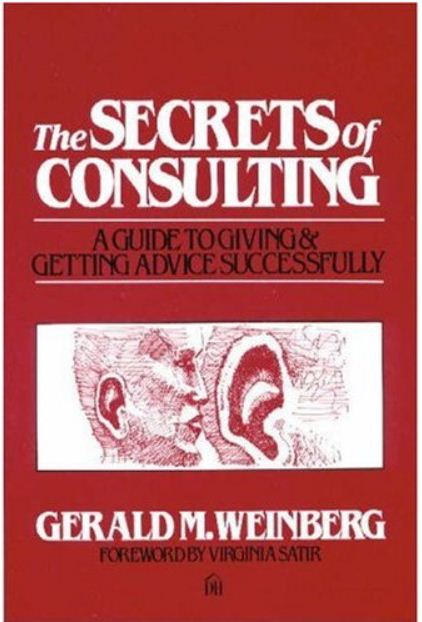 From his mouth to your ear come Secrets of Consulting