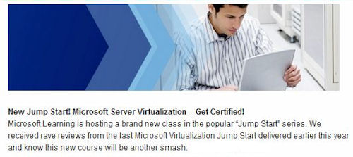 Purple prose from Microsoft's registration page for this Jump Start.
