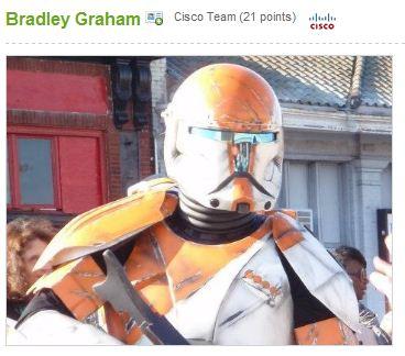 Bradley must also go in for Star Wars re-enactements
