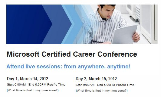 Another free, two-day career and certification MS event online