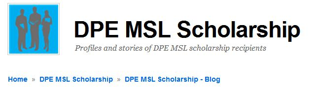The Scholarship blog explains the program and introduces the scholarship recipients