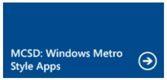Makes sense that they use Metro-style tiles for the new MS certs!