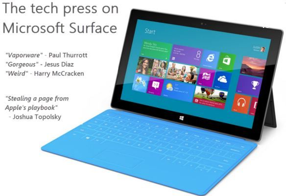 Some very neat accessories (a cover that doubles as a keyboard) make the Surface pretty slick