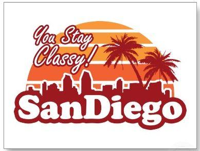 A cheesy but nice image of the San Diego skyline