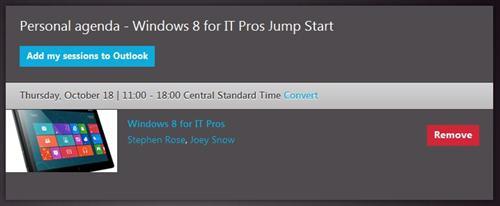 Looks like an HTML 5 app for doing Jump Start registration, agendas, and so forth.