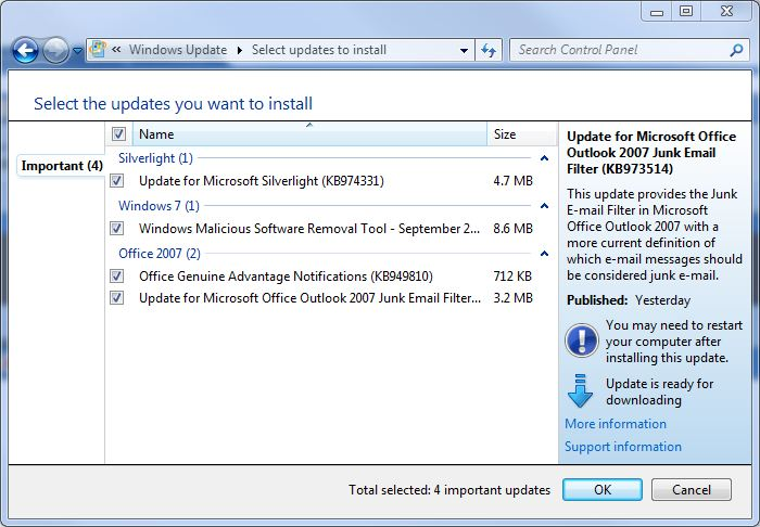 Windows 7's First Patch Tuesday