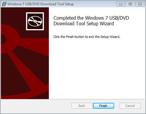 Click Finish to complete the install