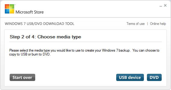 USB or DVD