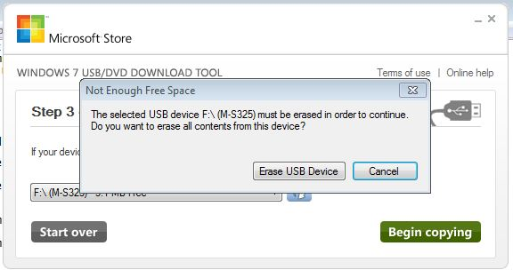 The UFD must be at least 4GB in size and you get multiple Erase warnings along the way.