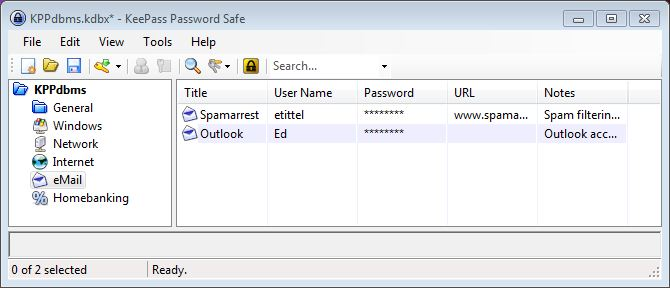 Keepass offers safe and ready access to account and password data