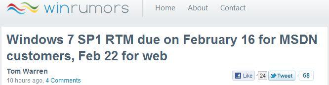 Headline from WinRumors.com