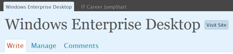 This blog's WordPress page header