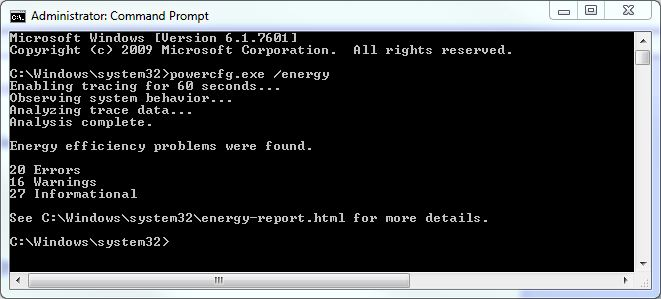 The little-known powercfg.exe command is profiled in this blog