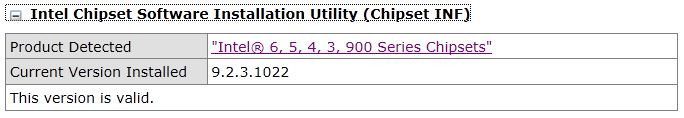 intel chipset driver update utility