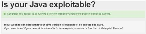 No Java vulnerabilities found