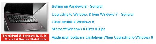 Lots of instructions and how-tos to migrate from 7 to 8 from Lenovo.