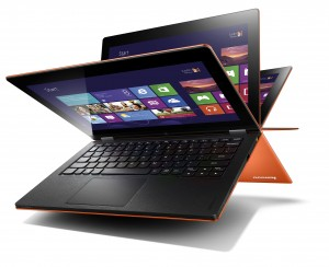 The Lenovo Yoga 13 runs full-blown Win8 and has a great tablet ethos, too.