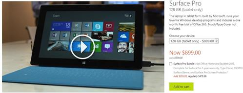 If you're smart enough to ask, you can get upmarket versions of the Surface Pro from the Microsoft Store.