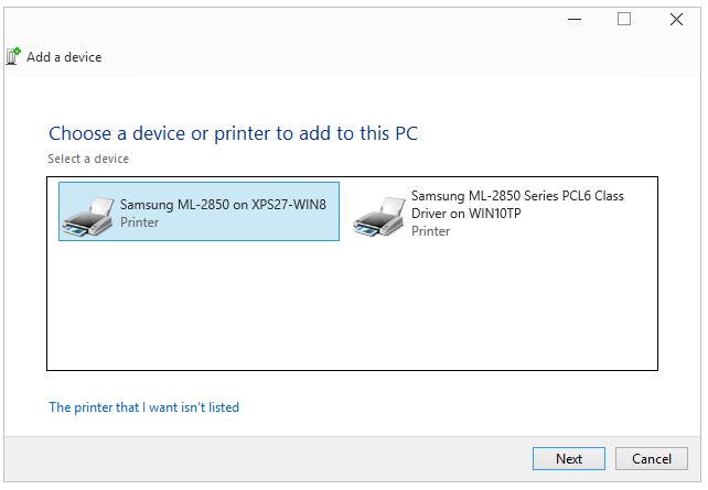 addprinter