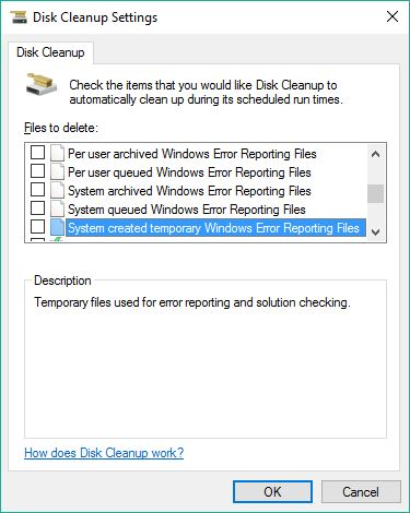 All Disk Cleanup Options captured, 3 of 5
