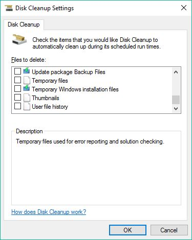 All Disk Cleanup Options captured, 5 of 5