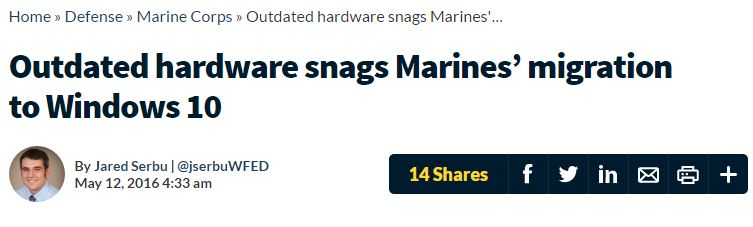 USMC hits Win10 update snag