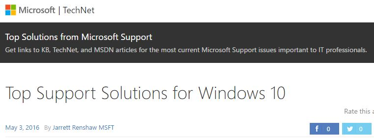 top win10 deployment issues