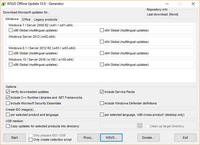 Windows Update Alternatives #2: WSUS Offline Update