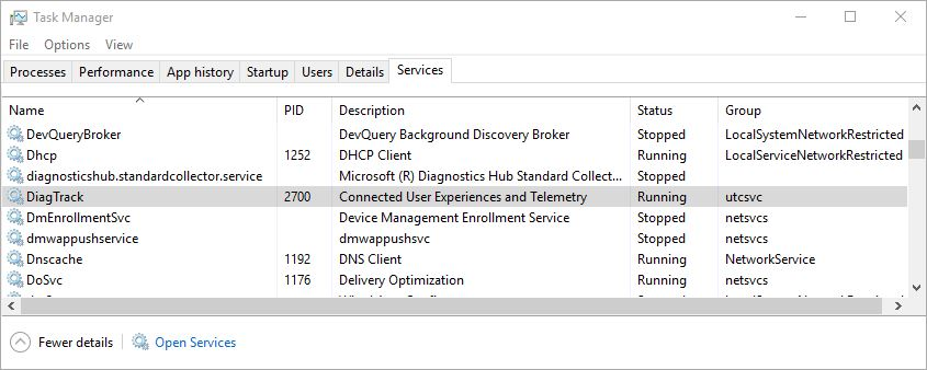 DiagTrack Stop Fixes Win10 Update Ills