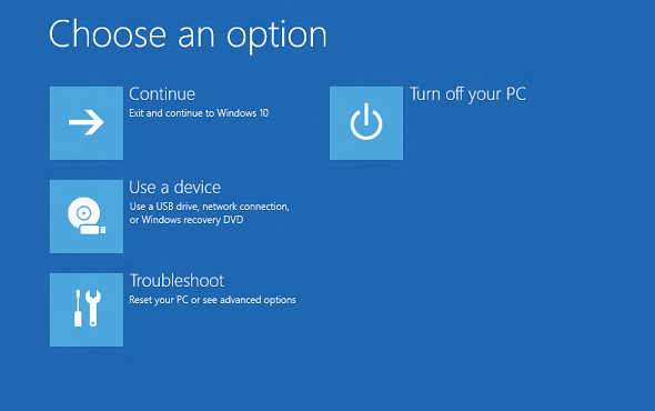 Troubleshooting Windows Recovery Environment