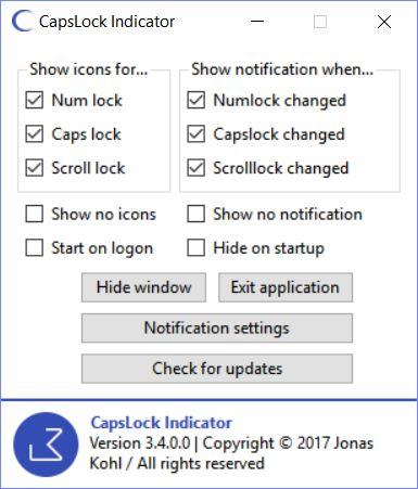 CapsLock Indicator Shows Key States