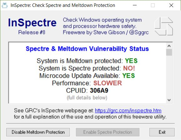 1803 May Drop Spectre Patches on Some PCs.bad