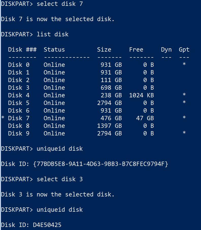 GPT vs MBR Disks.diskpart