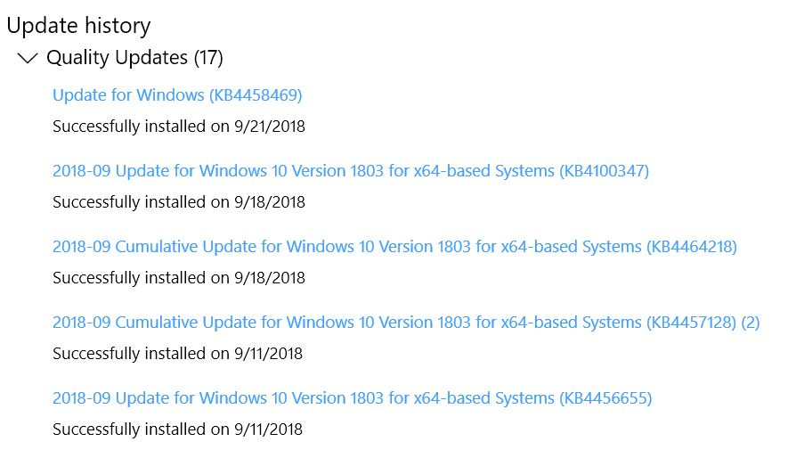 Getting KB4458469 Installed When Windows Update Offer Absent.history