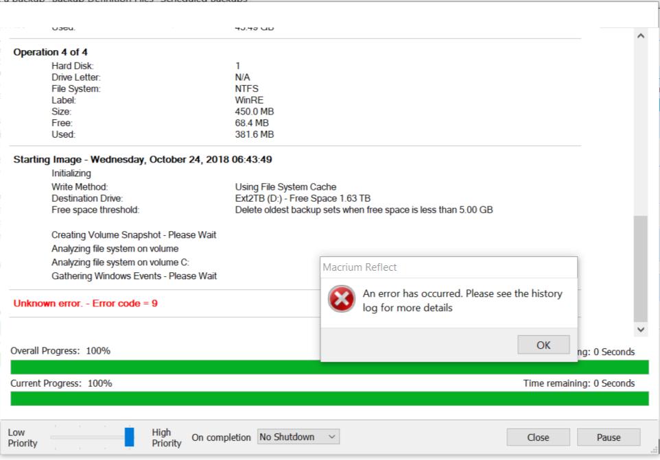 Operator Error Makes Insider Preview Reflect Bug Persist.error9