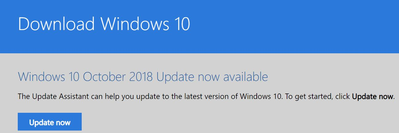 Win10 1809 Is Re-released.win10dlpage