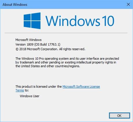 False Bug ID Causes 1809 Re-Release.originalbuild