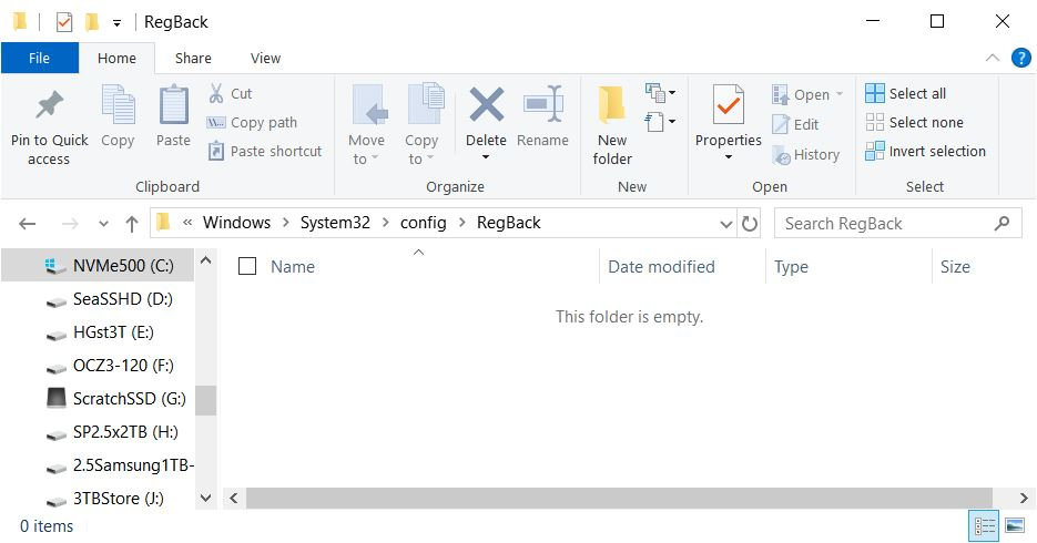 Win10 Registry Backup Task Broken.folderempty